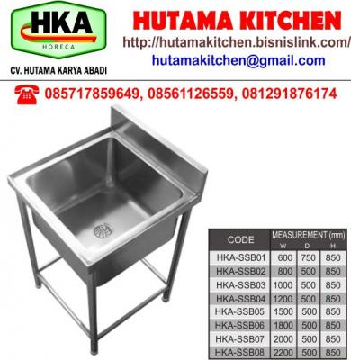 HUTAMA KITCHEN MENJUAL BOWL SINK SINGLE STAINLESS STEEL
